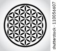 flower of life symbol - illustration - stock vector