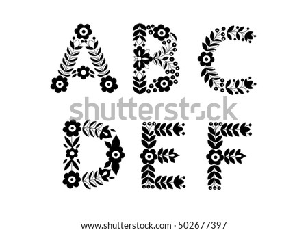 Summer Flower Wreath Lettering Decoration Design Stock