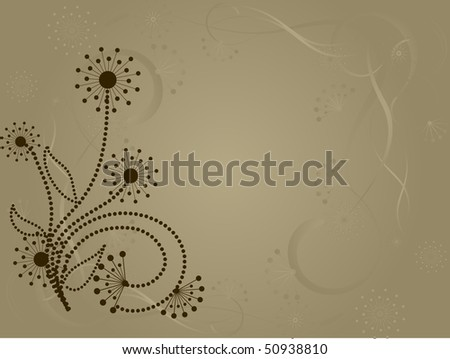 flower pattern decoratively romantically abstraction illustration