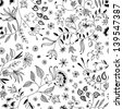 Flower seamless floral pattern thin nice and beautiful - stock photo
