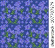 Flower seamless pattern - vector - stock vector