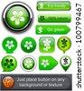 Flower web buttons for website or app. Vector eps10. - stock vector