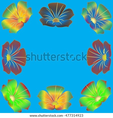 Flowers Background for greeting card, presentation, flyer or brochure.