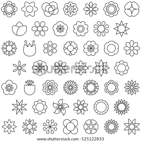 FLOWERS outline icons