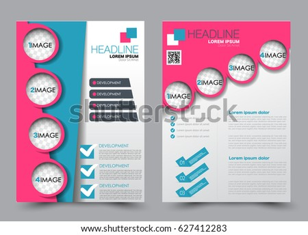 Flyer And Brochure Template Annual Report Cover Design Business Or Education Poster A4