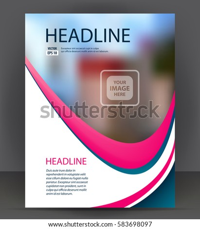 Magazine Flyer Brochure Cover Layout Design Vector 295069196 – Pamphlet Layout Template