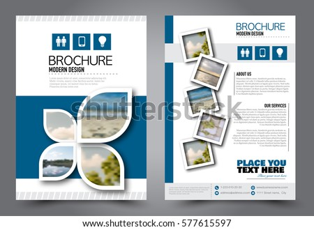 Business Brochure Template Flyer Design Annual Stock Vector - School brochures templates