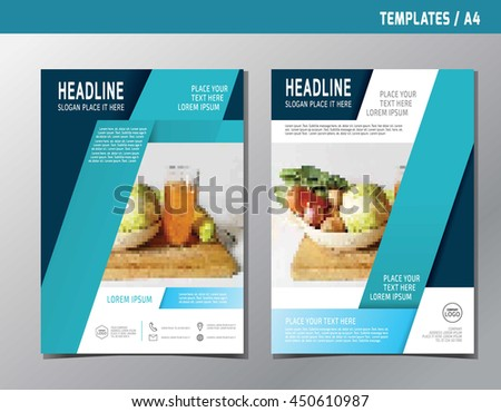 Fast Food Flyer Design Vector Template Stock Vector
