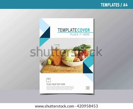 Flyer Leaflet Brochure Template A4 Size Stock Vector 420958438