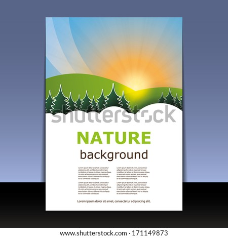 Flyer or Cover Design - Nature: Forest, Mountain, Sunshine