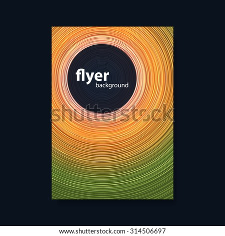 Flyer or Cover Design with Colorful Background and White Circles
