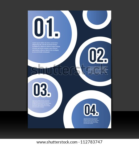 Flyer or Cover Design with Numbers