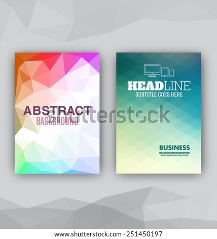 Flyer Set - Abstract Backgrounds - Presentation Template - Brochure Print Design Elements