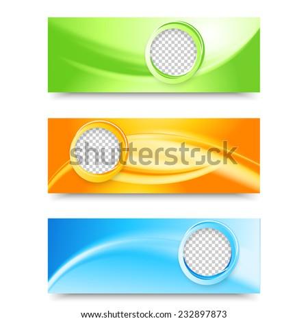 Flyer Template Header Design Banner Design Stock Vector 232897852 ...