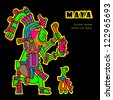 Flyuro image of the Maya. Maya designs. Maya design elements. - stock