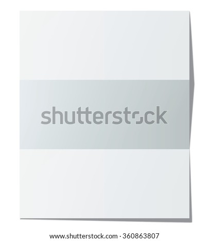 Folded paper sheet. Vector illustration