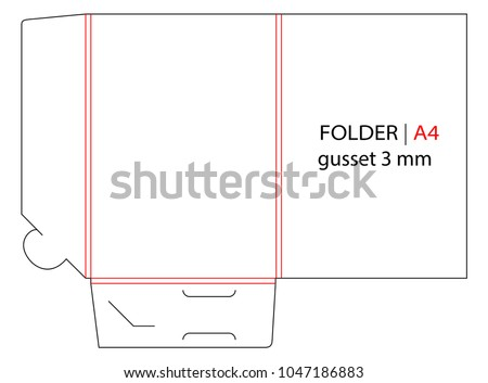 Side seam envelope c4 size die stock vector 1045178071 shutterstock empty shablon template for a4 documents and business card flashek Images
