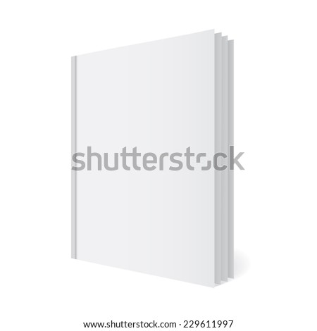 Folder with papers, journal template, mock-up