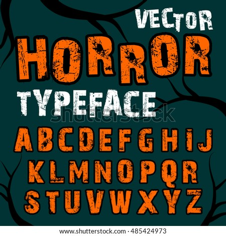 Set Happy Halloween Title Different Cartoon Stock Vector