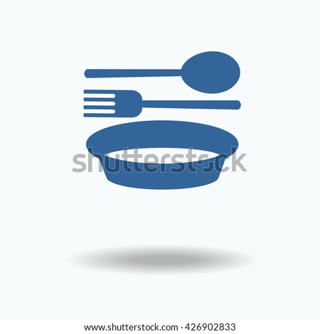 food icon vector web picture graphic jpg jpeg eps fork and spoon plate