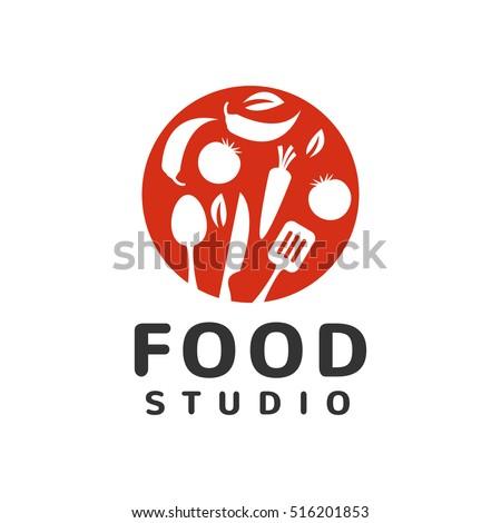 Restaurant Kitchen Toolste food studio vector logo concept kitchen stock vector 516201847