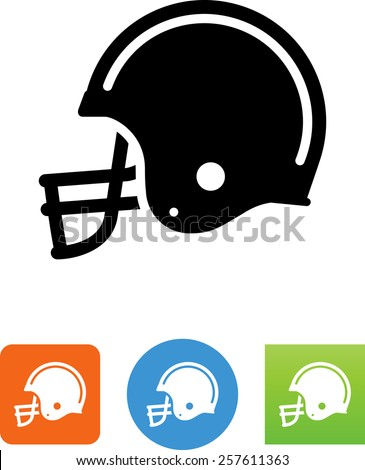 football helmet icon stock vector 257611363 - shutterstock