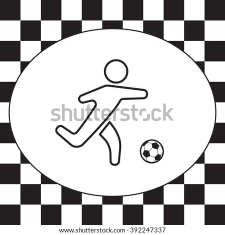 football (soccer) player silhouette with ball isolated
