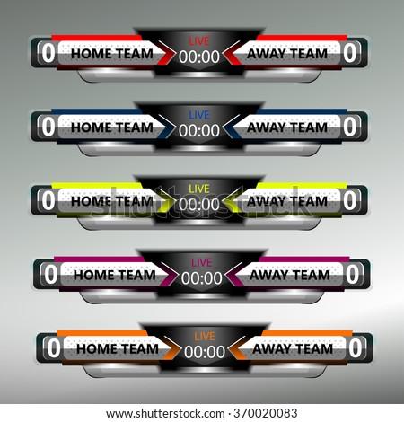 Scoreboard Sport Template Football Soccer Vector Vector – Scoreboard Template