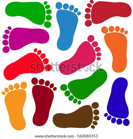 Cartoon Foot Prints Stock Photos Images Amp Pictures