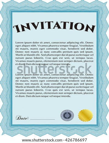 Retro invitation border frame complex background stock vector formal invitation good design customizable easy to edit and change colors with stopboris Choice Image