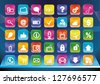 Forty different smartphone app icons. - stock vector