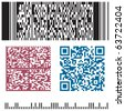 four bar code in a vector - stock vector