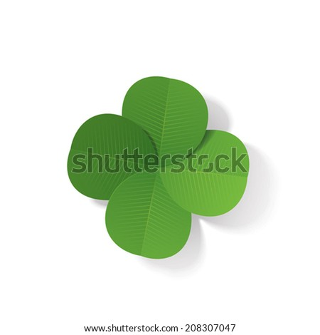 Four-leaf clover (3d vector illustration)