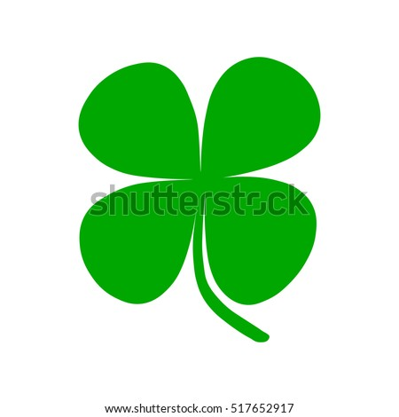 Four-leaf clover. symbol for luck. St. Patrick's Day