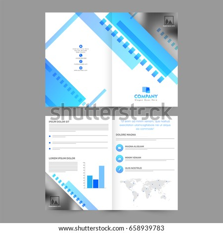 Four Page Brochure Layout Template With Money Elements Stock Four - Four page brochure template