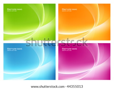Four smooth colorful backgrounds
