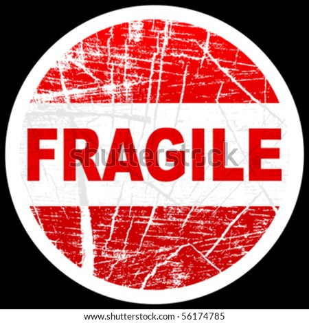 fragile stamp