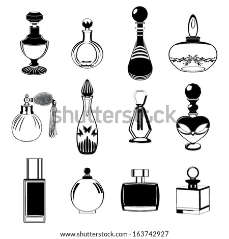 Fragrance bottles vector collection