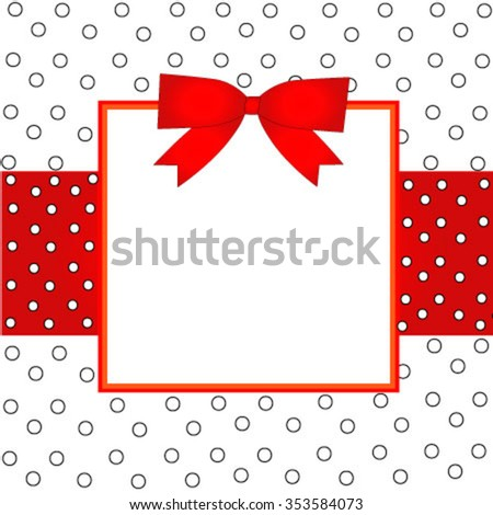 Frame design with red and white polka dot pattern wallpaper background for your content Eps 10 stock vector illustration