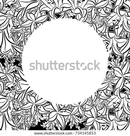 Doodle Frame Flower Elements Vector Zentangle Stock Vector