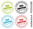 Free shipping stamps vector collection. - stock vector
