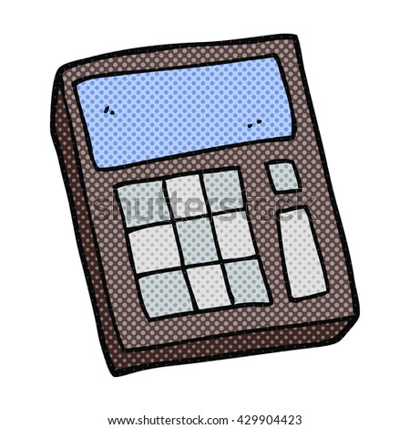 freehand drawn cartoon calculator