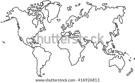 Freehand world map sketch on white vectores en stock 416938450 freehand world map sketch on white background gumiabroncs Images