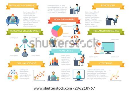 Disabled Life Design Concept Set Work Stock Vector 243305821 Shutterstock
