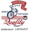 Freeride bike - stock vector