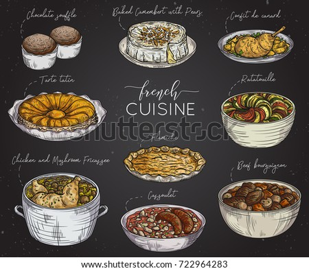 Chinese food colorful illustration vector colorful stock - French cuisine definition ...