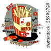 French fries in a cartoon style - stock