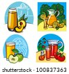 fresh juices - stock vector