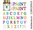 Fresh paint font