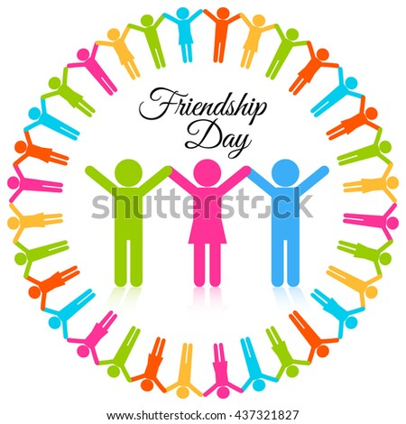Friendship day icon vector